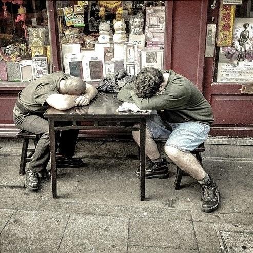 antireblose und müde Menschen